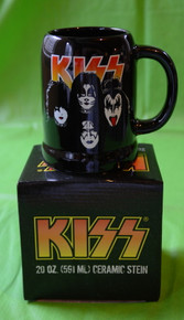 KISS - 20 OZ CERAMIC STEIN - NEW IN BOX - SIMMONS - STANLEY - FREELEY