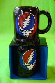 "GRATEFUL DEAD- 20 OZ CERAMIC STEIN - ""STEAL YOUR FACE"" - NEW IN BOX - GARCIA - LESH - WEIR"