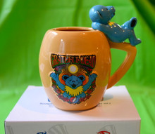"GRATEFUL DEAD- 20 OZ CERAMIC STEIN - ""DANCING BEARS"" - NEW IN BOX - GARCIA - LESH - WEIR"