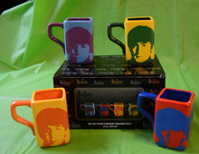 THE BEATLES- 4 MUG SET - 12 OZ CERAMIC MUG  - NEW IN BOX - LENNON - McCARTNEY