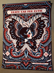 DEATH CAB FOR CUTIE - 2019 - OREGON ZOO - PORTLAND - DAVE QUIGGLE - POSTER