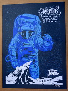 DEER TICK - 2019 -TROUBADOUR - LOS ANGELES - X-RAY -SILK SCREEN POSTER