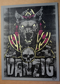 DANZIG - 2017 - BLACKEST OF THE BLACK FESTIVAL - X-RAY - ARTIST PROOF - SILK SCREEN POSTER