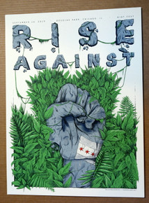 RISE AGAINST - 2019 - RIOT FEST - CHICAGO - BAILEY RACE - SILK SCREEN POSTER