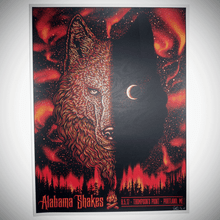 ALABAMA SHAKES  - RED EDITION -  TODD SLATER - 2017 - PORTLAND - MAINE - POSTER