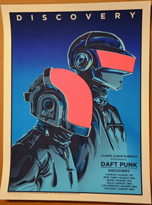DAFT PUNK - PINK VARIANT - 2019 - DISCOVERY - TIM DOYLE - CLASSIC ALBUM SUNDAY - TOUR POSTER