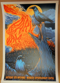 PEARL JAM - 2006 - KINGS OF LEON - BRISBANE - KEN TAYLOR - TOUR POSTER - VEDDER