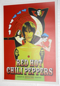 RED HOT CHILI PEPPERS - 2001 - WESTON PARK - CRAIG PHILLIPS - POSTER - STAFFORD U.K.