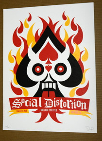 SOCIAL DISTORTION - 2010 - BOULDER THEATER - DAN STILES - POSTER - COLORADO