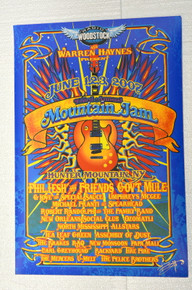 MOUNTAIN JAM - 2007 - SILKSCREEN - PHIL LESH - RICHARD BIFFLE - GOV'T MULE - UNPHREYS MCGEE