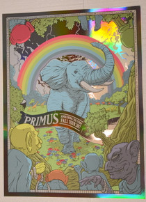 PRIMUS - FOIL - CLAYPOOL - 2017 - AMBUSHING THE STORM TOUR - VARIOUS VENUES - FLOREY- POSTER