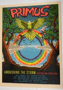 PRIMUS - CLAYPOOL - 2018 - AUSTRALIA - AMBUSHING THE STORM TOUR POSTER - DOYLE