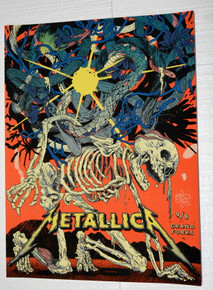 METALLICA - 2018 - ALERUS CENTER - GRAND FORKS - YIN SHAIN NG - VIP TOUR POSTER - NORTH DAKOTA