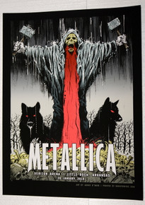 METALLICA - 2019 - VERIZON ARENA - LITTLE ROCK - JAMES O'BARR - VIP TOUR POSTER - ARKANSAS