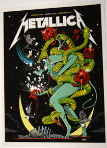 METALLICA - 2019 - VAN ANDEL ARENA - GRAND RAPIDS - BAUTISTE - VIP TOUR POSTER - MICHIGAN