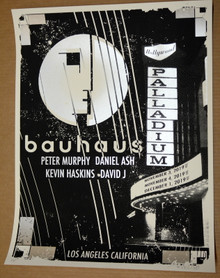 BAUHAUS - 2019 - PALLADIUM - LOS ANGELES - DELANO GARCIA - TOUR POSTER - PETER MURPHY