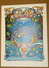 DEAD & COMPANY - PLAYING IN THE SAND - CANCUN - 2020 - AJ MASTHAY - POSTER