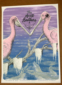 THE AVETT BROTHERS -2016 - JACKSONVILLE ARENA - NEAL WILLIAMS - POSTER - ARTIST PROOF