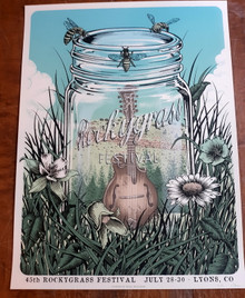 ROCKY GRASS FESTIVAL - 2017 - LYONS - COCLORADO - NEAL WILLIAMS - POSTER - ARTIST PROOF