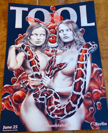 TOOL - GERMAN FAN CLUB POSTER - BERLIN 2001 - COLUMBIAHALLE -
