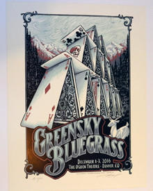 GREENSKY BLUEGRASS - 2016 - OGDEN THEATRE - DENVER - AJ MASTHAY - POSTER