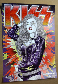 KISS - GERMAN FAN CLUB - POSTER - BERLIN 2013 - WALDBUHNE - SIMMONS - STANLEY