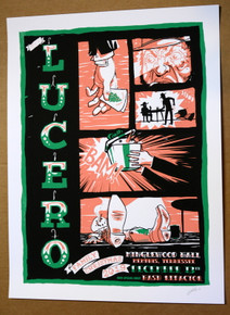 LUCERO - 2019 - MINGLEWOOD HALL - MEMPHIS - SILK SCREEN - MOON LIGHT SPEED