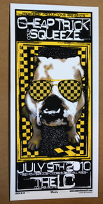 CHEAP TRICK - SQUEZZE - 2010 - THE LC - COLUMBUS - OHIO - ENGINEHOUSE 13 - POSTER - MIKE MARTIN