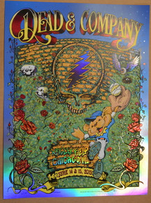 DEAD & COMPANY - 2019 - FOIL -WRIGLEY FIELD - CHICAGO - AJ MASTHAY - MIKE DUBOIS - POSTER