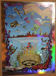 DEAD & COMPANY - 2017 - FOIL -WRIGLEY FIELD - CHICAGO - AJ MASTHAY - MIKE DUBOIS - POSTER
