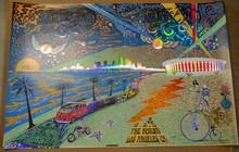 DEAD & COMPANY - 2015 - LA FORUM - LOS ANGELES - FOIL - UNCUT - MIKE DUBOIS - POSTER - DIPTYCH