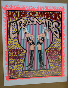 THE CRAMPS - 1996 - METRO -CHICAGO - HOUSE OF WHACKS - LINDSEY KUHN - POSTERS -
