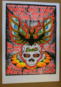 HIGH ON FIRE - 2012 - EMO'S - AUSTIN - STAR & DAGGER - LINDSEY KUHN - POSTER