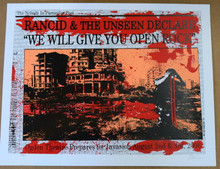 RANCID - THE UNSEEN - 2006 - OGDEN - DENVER -  LINDSEY KUHN - TOUR POSTER