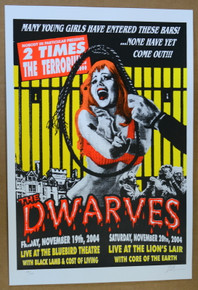 THE DWARVES - BLUEBIRD - LION'S LAIR - DENVER - 2004 - LINDSEY KUHN -POSTER