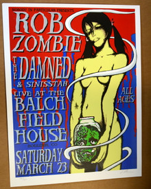 ROB ZOMBIE - THE DAMNED - 2002 - BOULDER - COLORADO - LINDSEY KUHN - POSTER