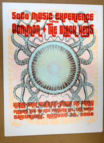 THE BLACK KEYS - COMMON - 2008 - SAN DIEGO - SOCO - LINDSEY KUHN - TOUR POSTER  - ARTIST PROOF