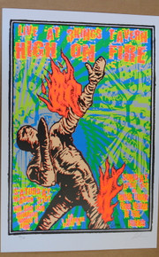 HIGH ON FIRE - BLACK LAMB - 2007 - DENVER - COLORADO - LINDSEY KUHN - TOUR POSTER