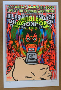 KILLSWITCH ENGAGE - CHIMAIRA - 2007 - DENVER -FILLMORE - LINDSEY KUHN - TOUR POSTER