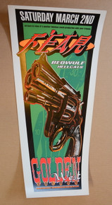 FEAR - BEOWOLF - HELLCATS - 1996 - ALBEQUERQUE - POSTER - SPERRY - DONOVAN - PSYCHIC SPARKPLUG
