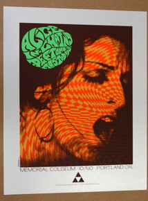 ALICE IN CHAINS - MASTODON - THE DEFTONES -  SILVER VARIANT- #21/25 - POSTER - PORTLAND - JERMAINE ROGERS