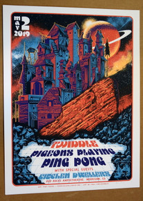 PIGEONS PLAYING PING PONG - TWIDDLE - 2019 - RED ROCKS - A/P - PAUL KREIZENBECK - POSTER