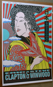 ERIC CLAPTON - WINWOOD - 2011- CREAM - JAPAN TOUR POSTER - JOHN VAN HAMERSVELD