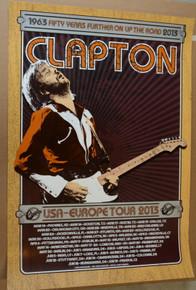 ERIC CLAPTON - 2013 50TH ANNIVERSARY TOUR - POSTER - RON DONOVAN - USA / EUROPE VARIOUS VENUES