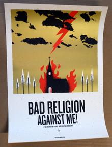 BAD RELIGION - AGAINST ME - 2014 - MADRID - BARCELONA - ERROR-DESIGN - POSTER