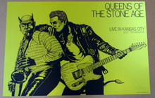 QUEENS OF THE STONE AGE - 2017 - LIME VARIANT #13/20 - KANSAS CITY - POSTER - JERMAINE ROGERS