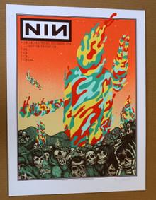 NINE INCH NAILS - NIN - RED ROCKS - 2018 - WHITE - ARTIST PROOF - JERMAINE ROGERS - POSTER