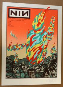 NINE INCH NAILS - NIN - RED ROCKS - 2018 - EMBELLISHED - OPAL - #47/75 - JERMAINE ROGERS - POSTER