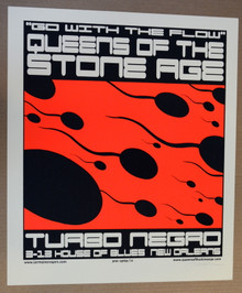 QUEENS OF THE STONE AGE -  2014 - NEW ORLEANS - TURBONEGRO - JERMAINE ROGERS - POSTER