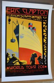 ERIC CLAPTON - 2011 WORLD TOUR - POSTER - RON DONOVAN -  VARIOUS VENUES